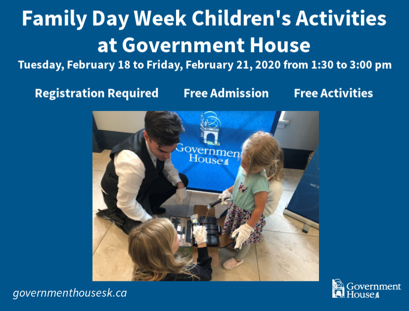 Government House Regina Family Day Week