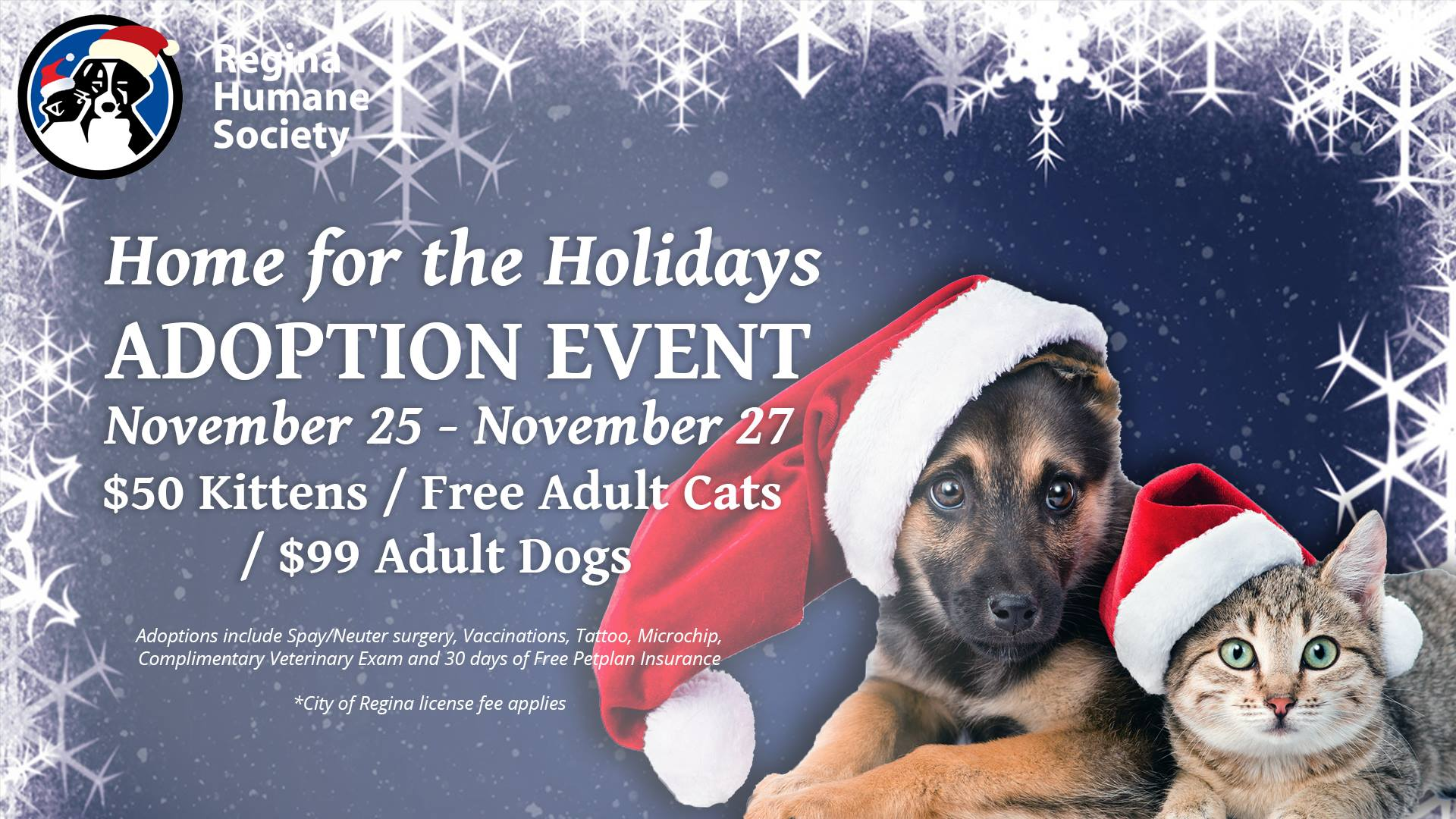 Regina Humane Society Home for the Holidays - November 25, 2016